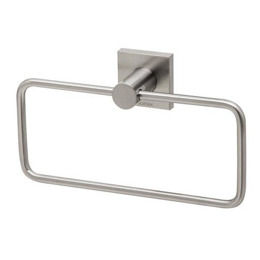 Phoenix Radii Hand Towel Holder Square Plate - Brushed Nickel - The Blue Space