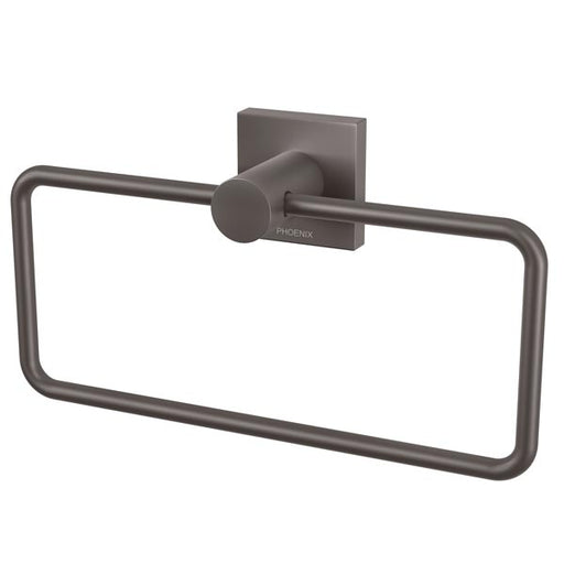 Phoenix Radii Hand Towel Holder Square Plate-Gun Metal
