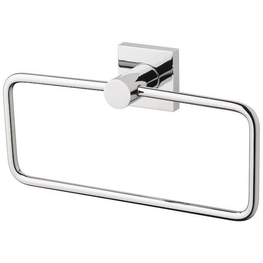 Phoenix Radii Hand Towel Holder Square Plate - Chrome - The Blue Space