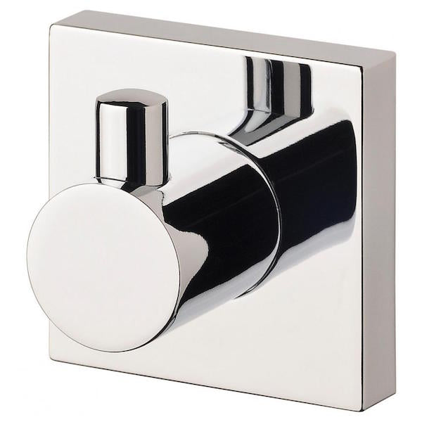 Phoenix Radii Robe Hook Square Plate-Chrome