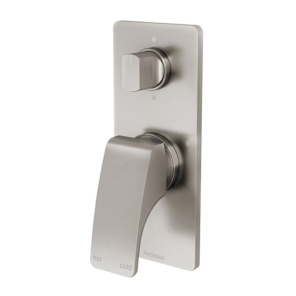 Phoenix Rush Shower/Bath Diverter Mixer-Brushed Nickel