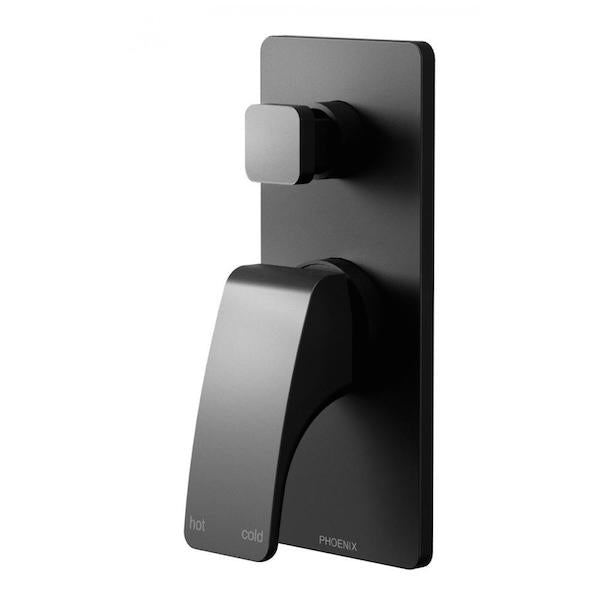 Phoenix Rush Shower/Bath Diverter Mixer-Matte Black