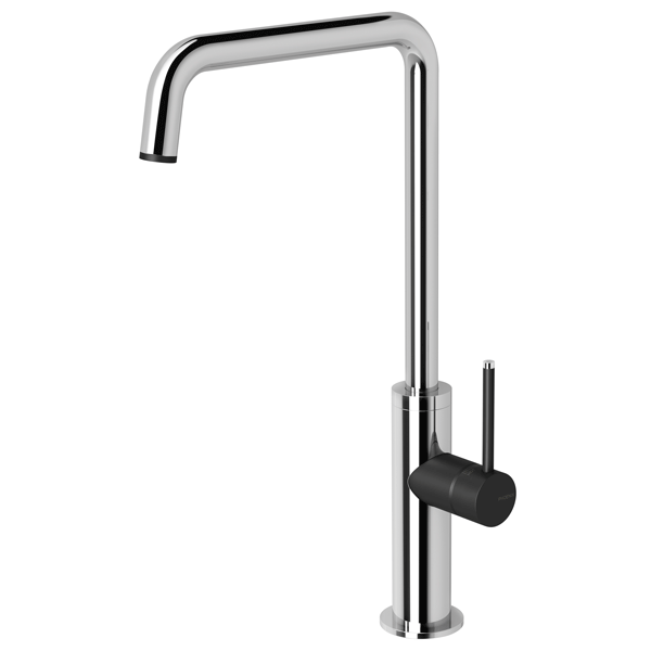 Phoenix Toi Sink Mixer 180mm Squareline-Chrome/Matte Black