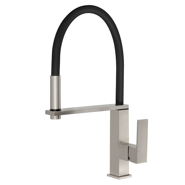 Phoenix Vezz Flexible Hose Sink Mixer (Square)-Brushed Nickel