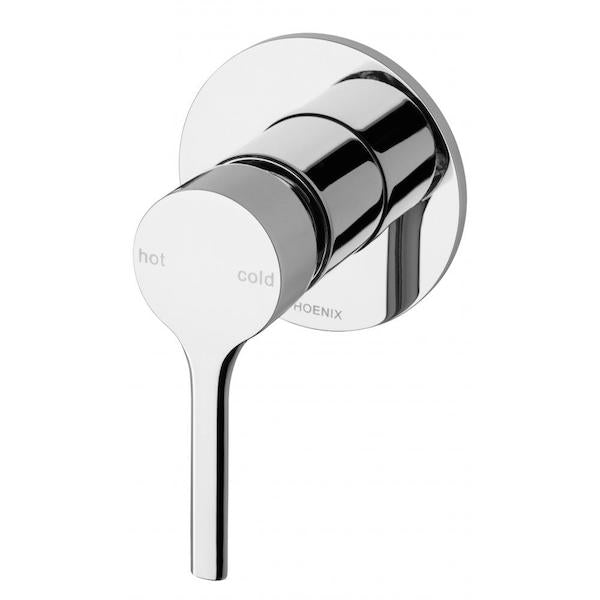 Phoenix Vivid Slimline Oval Shower/Wall Mixer-Chrome - the blue space