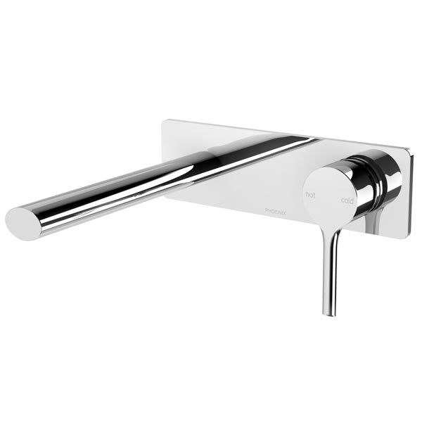 Phoenix Vivid Slimline Oval Wall Basin Mixer Set 175mm-Chrome - the blue space