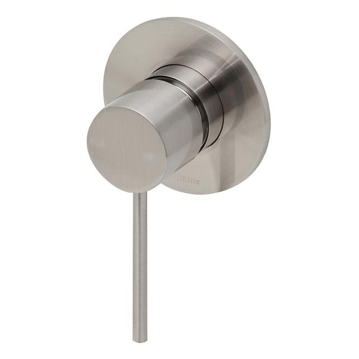 Phoenix Vivid Slimline Shower/Wall Mixer-Brushed Nickel - the blue space