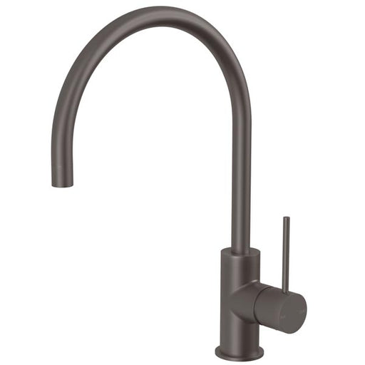 Phoenix Vivid Slimline Side Lever Sink Mixer 220mm Gooseneck-Gun Metal - the blue space