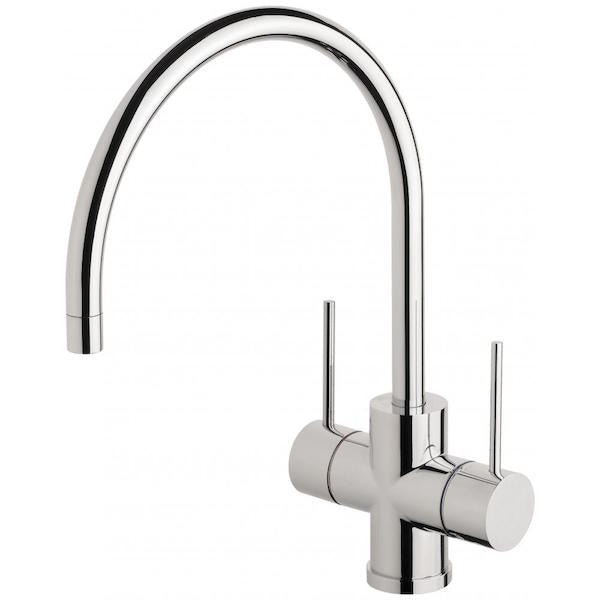 Phoenix Vivid Slimline Twin Handle Sink Mixer 220mm G/N