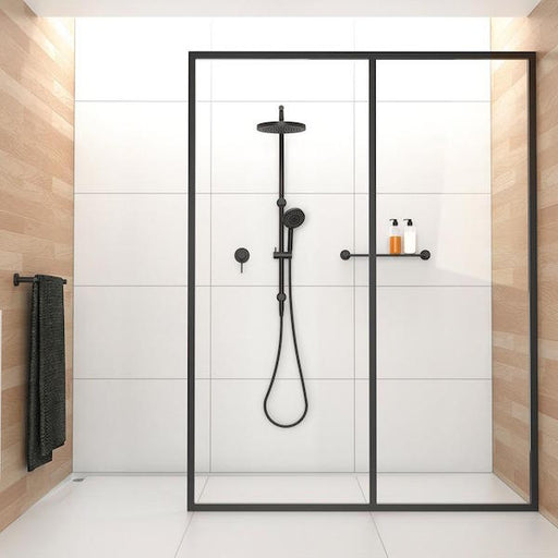 Phoenix Vivid Twin Shower-Matte Black - the blue space