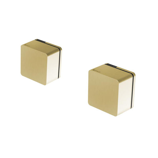 Phoenix Alia Wall Top Assemblies 15mm Extended Spindles - Brushed Gold - The Blue Space