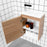 ADP Piccolo Wall Hung Vanity 400mm - open cabinets - The Blue Space