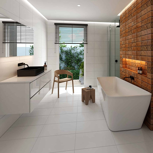 Seima Plati Freestanding Bath Featured in a Bathroom
