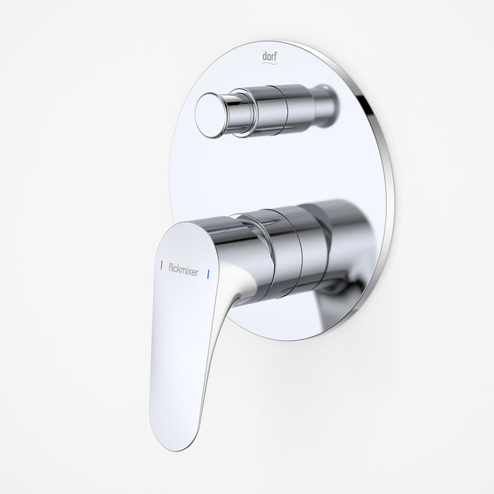 Dorf Flickmixer Plus Bath Shower Mixer with Diverter - chrome - the blue space