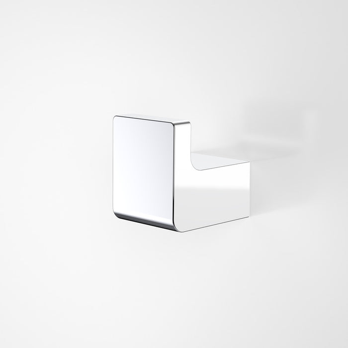 Dorf Motif Robe Hook - chrome - the blue space