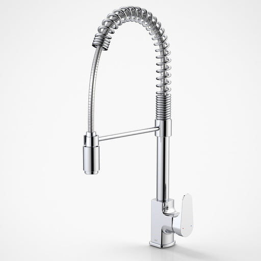 Dorf Viridian Pull Down Sink Mixer - chrome - the blue space