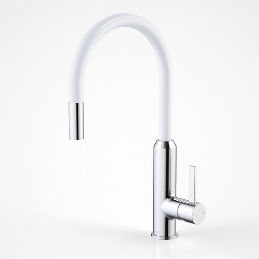 Dorf Vixen Retractable Sink Mixer White
