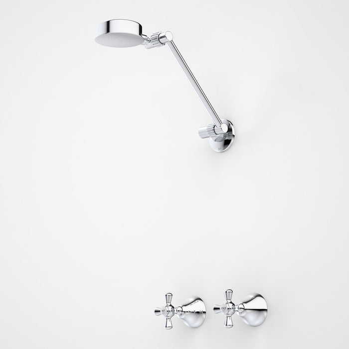 Dorf El Toro Cross Shower Set chrome - the blue space