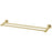 Phoenix Radii Double Towel Rail 600mm Round Plate - Brushed Gold - The Blue Space