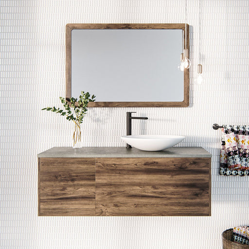 Rifco Aspen Solid Timber Vanity with Concrete Top & Basin 750mm - 1800mm at The Blue Space