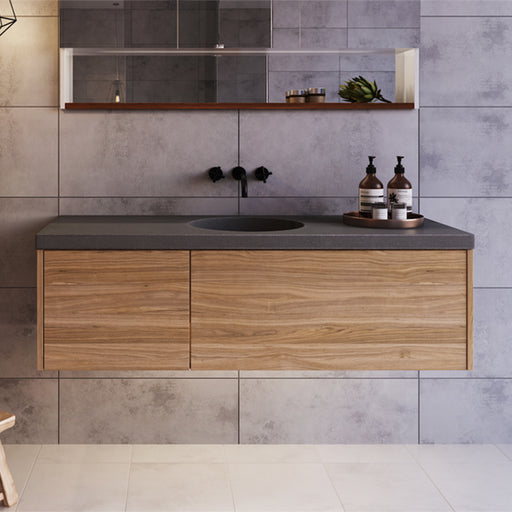 Rifco Opera Wall Hung Vanity with 40mm Concrete Integrated Top and Basin at The Blue Space