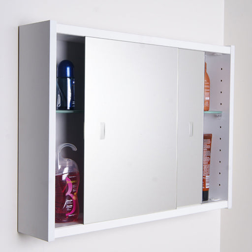 Rifco Saturn Sliding Door Mirror Cabinet 600mm - 900mm online at The Blue Space
