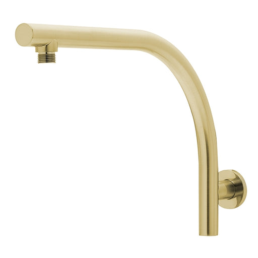 Phoenix Rush High-Rise Shower Arm Only - Brushed Gold