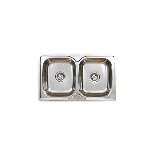 Seima Acero Double Bowl Kitchen Sink- No Drainer