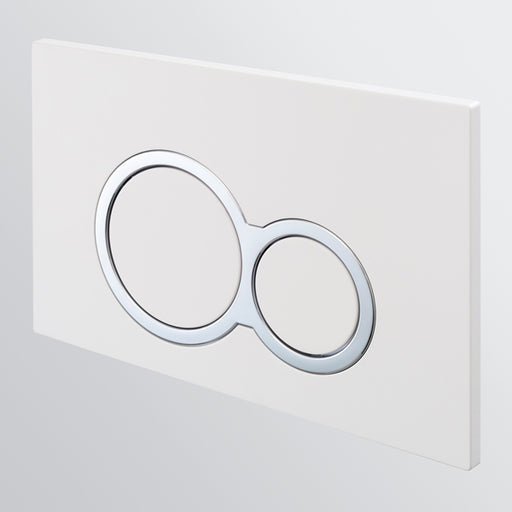 Seima InWall 100 Series Flush Button Plate - White