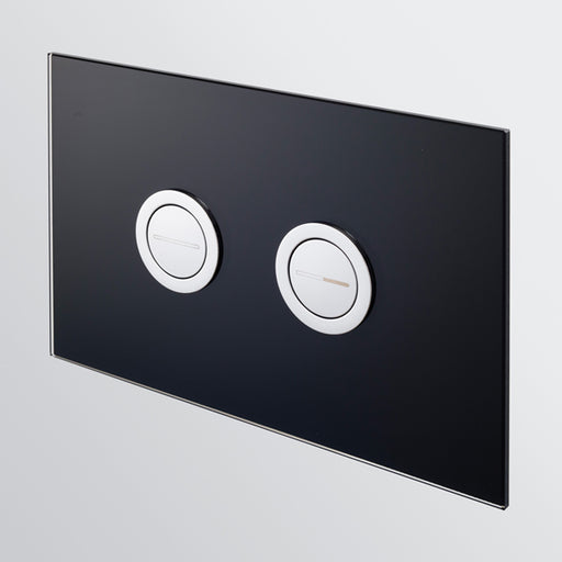 Seima InWall 200 Series Flush Button Plate - Black Glass