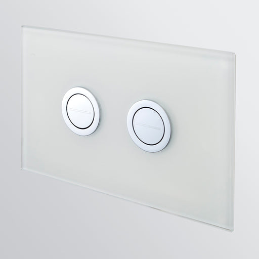 Seima InWall 200 Series Flush Button Plate - White Glass