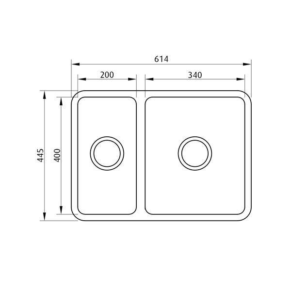 Seima Kubic 1.5 Bowl Undermount/Overmount Kitchen Sink Dimensions