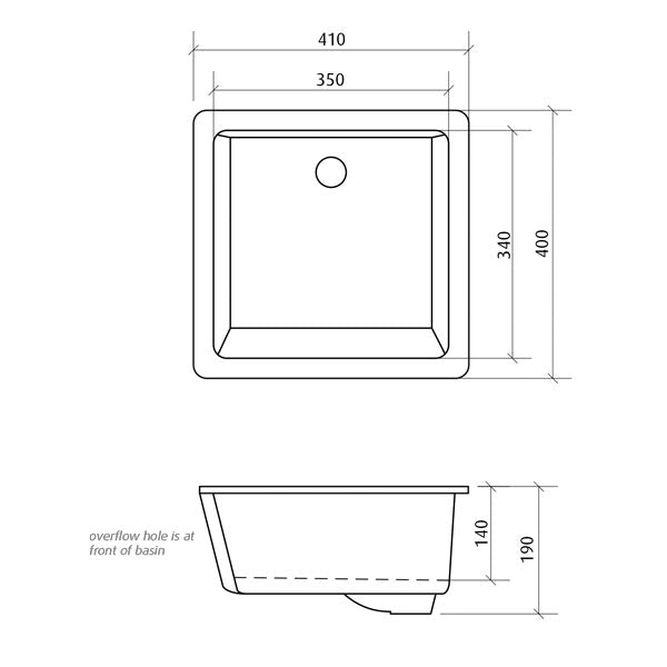 Seima Kyra Square Under Counter Basin Dimensions