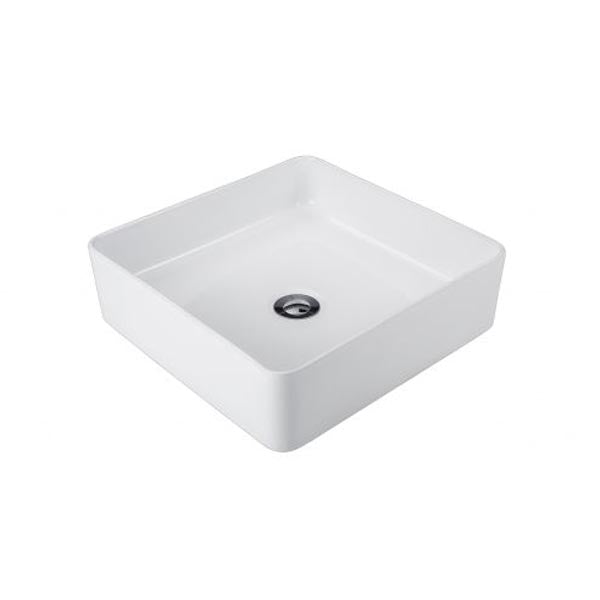 Seima Kyra Slimline Square Above Counter Basin-White