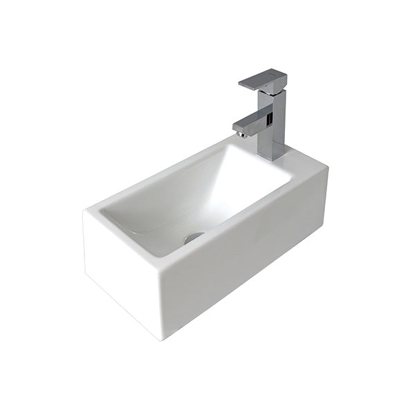 Buy Seima Plati Rectangular Compact Above Counter Wall Basin Online The Blue Space
