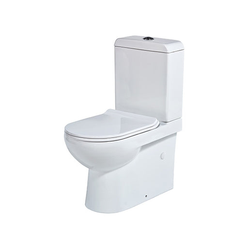 Seima Limni II Wall Faced Toilet Suite - Flat Seat