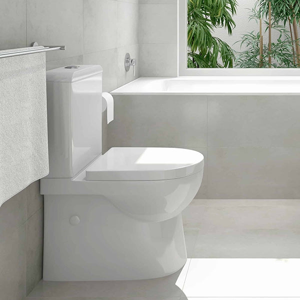 Seima Limni II Wall Faced Toilet Suite - Standard Seat Featured in Bathroom