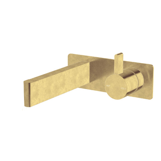 Sussex Calibre Wall Bath Mixer Outlet System 150mm Living Tumbled Brass Online at The Blue Space