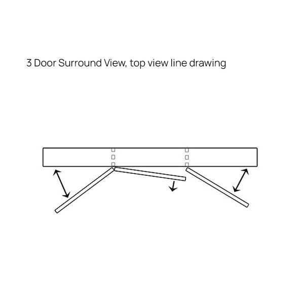 ADP 3 Door Surround View Technical Drawing - The Blue Space