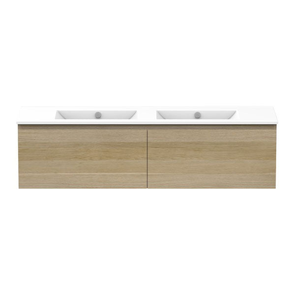 ADP Glacier Ceramic All-Drawer Slim Vanity Double Bowl 1500mm - The Blue Space