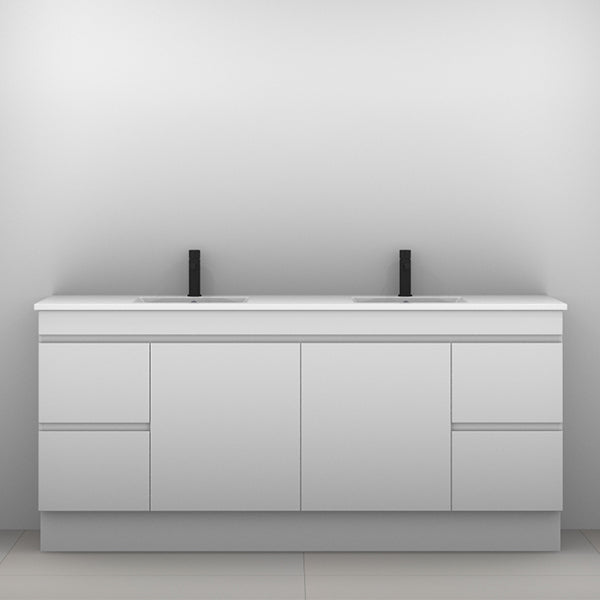 ADP Palm Vanity with Kickboard 1800mm Double Bowl - The Blue Space