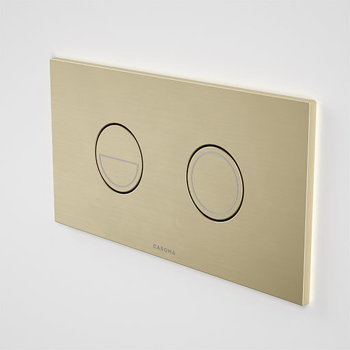 Caroma Invisi Series II Round Dual Flush Plate & Buttons Brushed Brass - The Blue Space