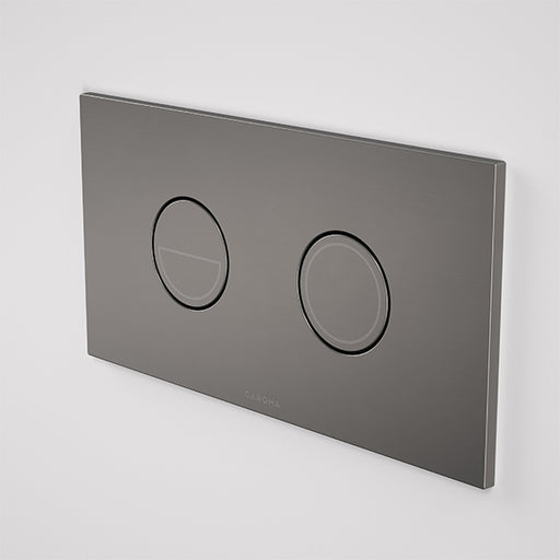 Caroma Invisi Series II Round Dual Flush Plate & Buttons Gunmetal - The Blue Space