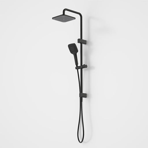 Caroma Luna Multifunction Rail Shower with Overhead Satin Black - The Blue Space