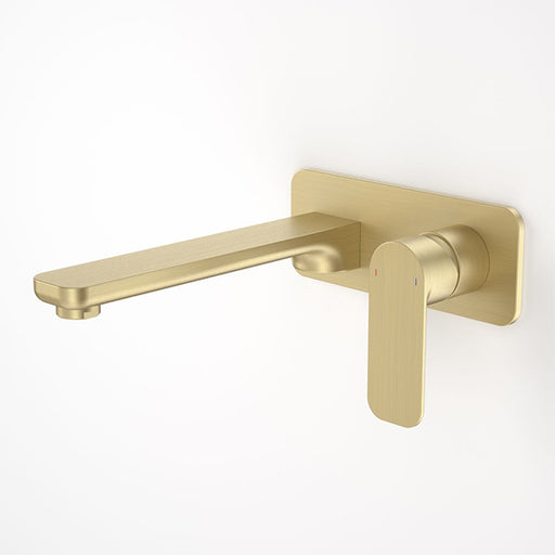 Caroma Luna Wall Basin/Bath Mixer Brushed Brass at The Blue Space