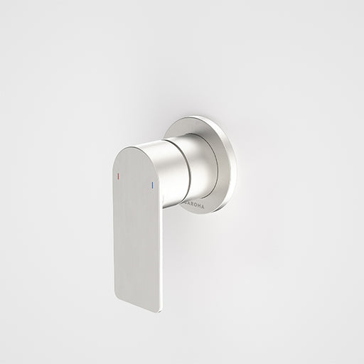 Caroma Urbane II Bath/Shower Mixer Round Plate Brushed Nickel - The Blue Space