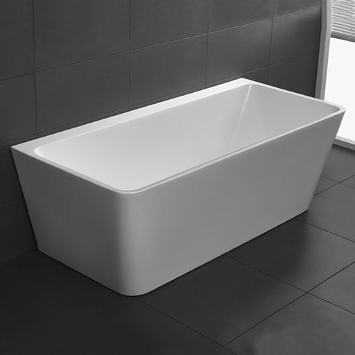 Cee Jay Square Back to Wall Freestanding Bath - The Blue Space