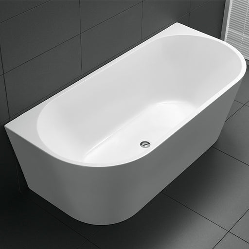 Cee Jay Round Back to Wall Freestanding Bath - The Blue Space