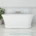 Decina Regent 1700mm Freestanding Oval Bath at The Blue Space