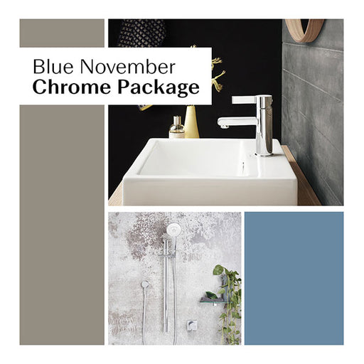 Blue November Chrome Bathroom Package - The Blue Space